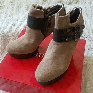 Guess platform ankle boot heels